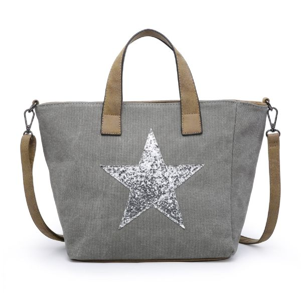 Sparkly star mini tote - various colours